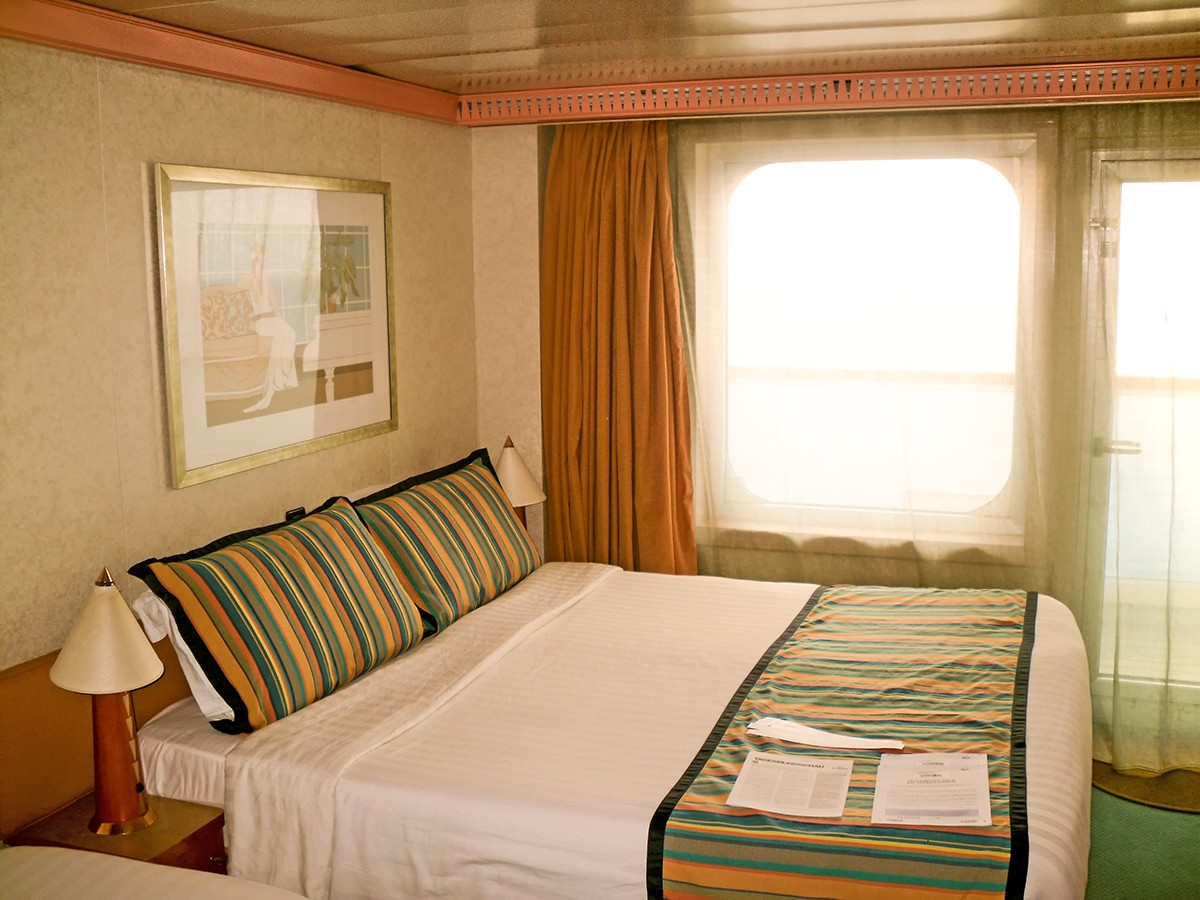 Costa Fortuna - Double bed in the balcony stateroom no. 7344