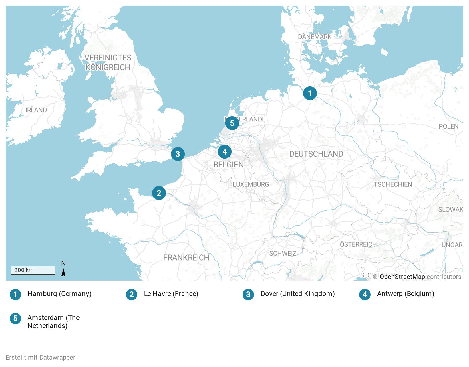 Route: Western Europe cruise aboard the cruise ship AIDAblu (AIDA Cruises)